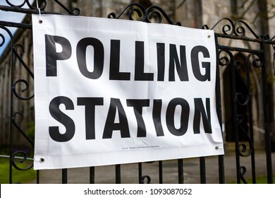 Plymouth, UK. /  05/03/18 :  Polling Station in the United Kingdom