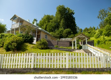 Plyos, Ivanovo Oblast, Russia - 06-12-2021: nice homestead