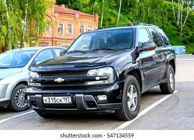 PLYOS, RUSSIA - JULY 23, 2014: Motor car Chevrolet Trail Blazer in the town street.