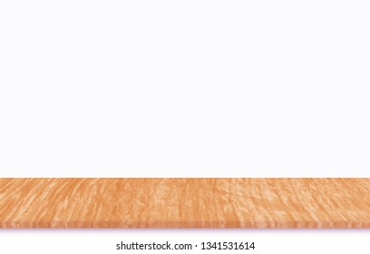 Plywood floor separated from white background