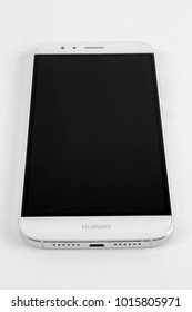Plzen, Czech Republic- January 30,2018:Mobile phone, smart phone Huawei  GX8 model isolated on white background