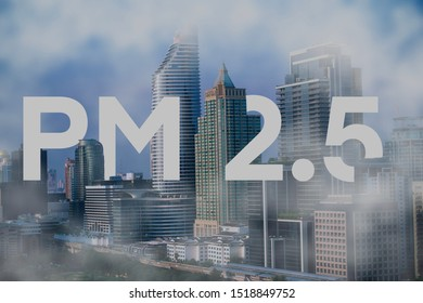 PM 2.5 pollution in the city  PM2.5 Background concept