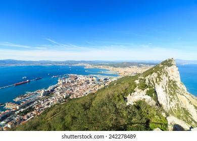 A pnaorama of Gibraltar city