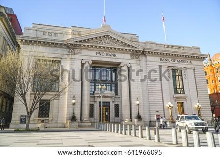 PNC Bank Bank America Pennsylvania Ave Stock Photo (Edit Now