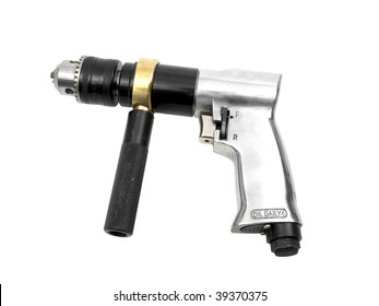 Pneumatic drill isolated on white background
