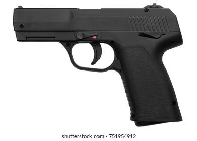 pneumatic pistol isolated on white background