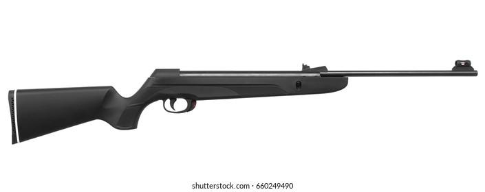 pneumatic rifle isolated on white background