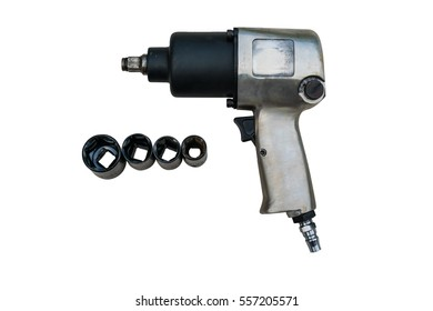 pneumatic wrench, tool for industrial on white