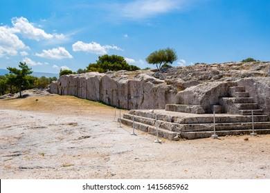 The Pnyx steps, where democracy was born