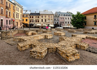 Po Farze Square - a square in the Old Town in Lublin created after dismantling the parish church. St. Michael the Archangel