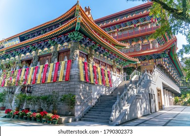 The Po Lin buddhist Monastery on Lantau island in Hong Kong
