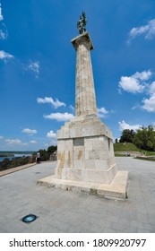 Pobednik (The Victor) monument in Kalemegdan, Belgrad, Serbia, June 24, 2019: It is built to commemorate Serbia's victory over Ottoman and Austro-Hungarian Empire.