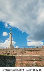 "Pobednik, ""the Victor"", a war memorial monument in Belgrade Fortress, in Belgrade, Serbia"