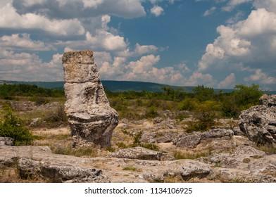 Pobiti Kamani - Stone forest near Varna. Bulgaria
