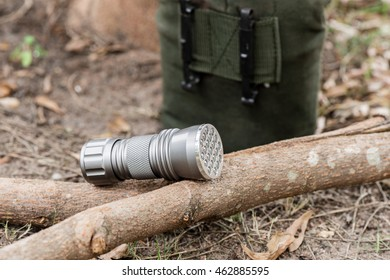 pocket flashlight for Everyday Carry (EDC), shallow depth of field