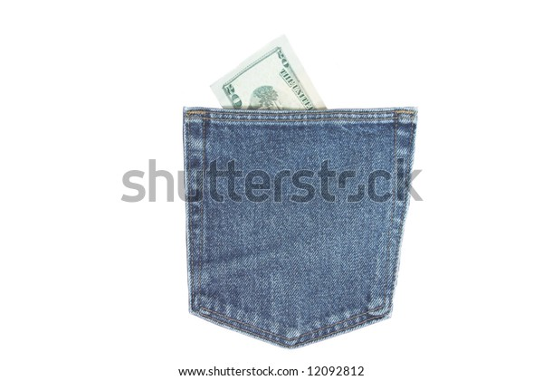 Pocket with money in it