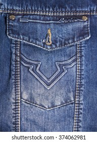 Pocket on a denim jacket