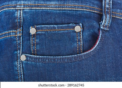 Pocket on jeans - fashion background