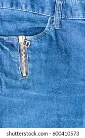 Pocket on jeans fashion denim fabric background