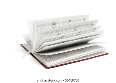 Pocket Organizer on Isolated White Background