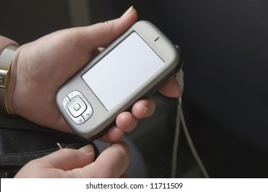 Pocket PC in the hand