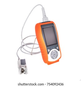Pocket pulse oximeter is used to determine the degree of oxygen saturation of human hemoglobin