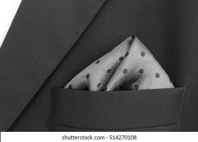 33b55d1f69cee pocket square - handkerchief in the breast pocket of a man's wool suit