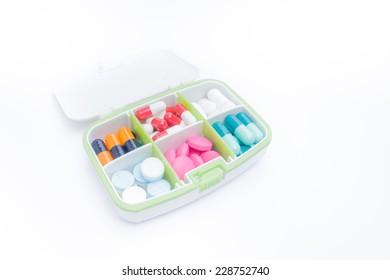 Pocket tablet box on white background