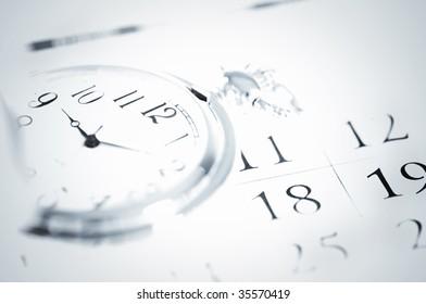 pocket watch and calendar