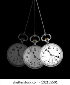 Pocket watch, hypnosis concept