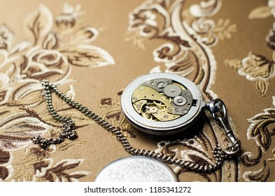 pocket watch on the background