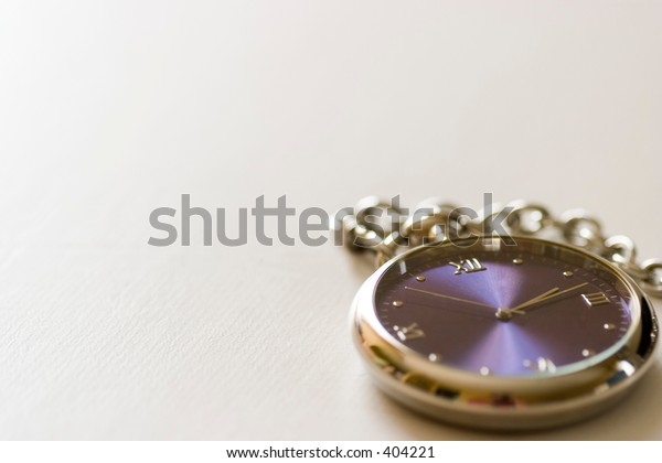 Pocket Watch on white leather
