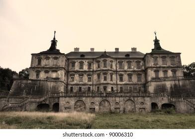 Podgoretsky Castle. Pidhirtsi, Ukraine. Old stylization