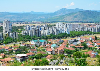 Podgorica city in summer, Montenegro