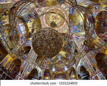 Podgorica, MONTENEGRO - MAY 3, 2019: Cathedral of the Resurrection of Christ in Podgorica, Montenegro