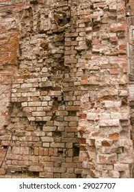 Poetry of dilapidation - Ruinous brick wall