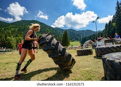Poiana Brasov, Romania 4th to 5th of August 2018 - Competitors participate in the SPARTAN TRIFECTA RACE ROMANIA