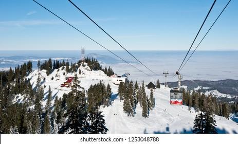Poiana Brasov, Romania - January 7, 2009: Ski lift