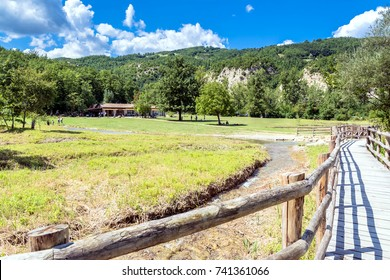 Poiano Springs in Reggio Emilia apennines are the main carsic springs of Emilia-Romagna, Italy