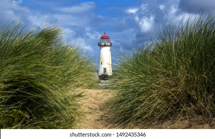 The Point of Ayr Lighthouse, also known as the Talacre Lighthouse, is a grade II listed building situated on the north coast of Wales
