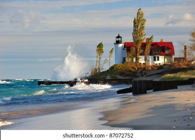 Point Betsie Lighthouse Sunrise - Crystallia, Michigan USA