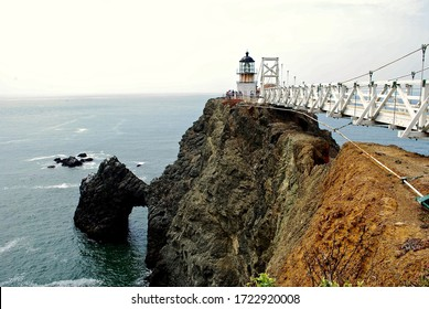 Point Bonita Lighthouse in the Golden Gate National Recreation Area, near San Francisco was built in 1855 on the West Coast to help shepherd ships through the treacherous Golden Gate straits.