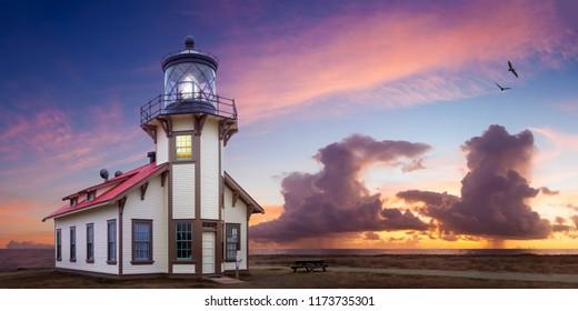 Point Cabrillo Light Station at Sunset