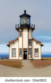 Point Cabrillo Lighthouse vertical close-up