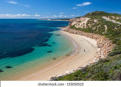 Point Nepean and Port Phillip Bay on a hot summer's day in Victoria, Australia