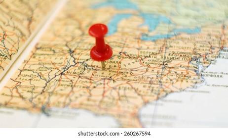 Nashville Area Map Stock Photos, Images & Photography ...