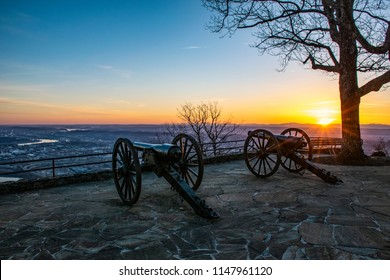 Point Park Civil War Cannons in Chattanooga Tennessee TN