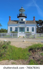Point Pinos, the oldest continuously operating lighthouse on the west coast, on Monterey Bay in Pacific Grove, California vertical