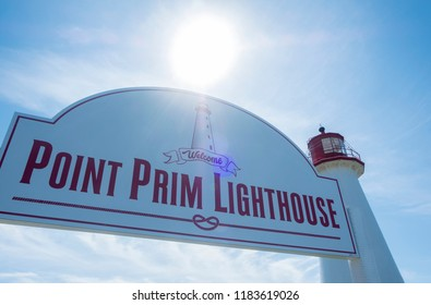 Point Prim Lighthouse in Southern Part of Prince Edward Island Canada