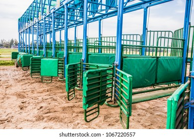 Point of release equipment used in horse racing.